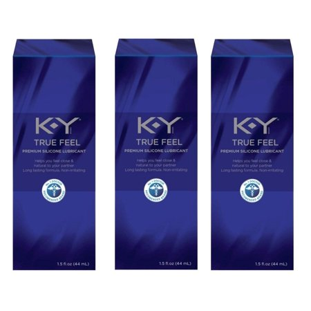 KY True Feel Premium Silicone Lubricant, Non-Irritatint, 1.5 Oz (Pack of