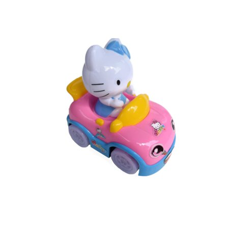 Web Chr - Girl Kitty Car Children Toy Car Bump and Go Light up Music Toy Car Young girls,HK-CAR