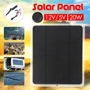 15W 20W 40W 12V/5V Dual Solar Power Panel Semi-Flexible Battery Charger Mono Polysilicon Off Grid Starter Kit RV Cell Controller Cable Waterproof USB For Outdoor Home Car Phone