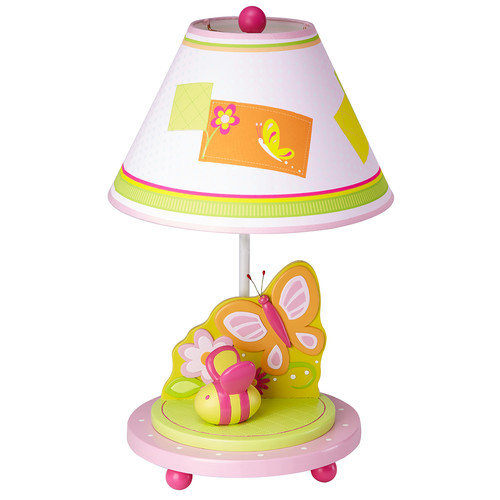 Guidecraft Gleeful Bugs 19'' H Table Lamp with Empire Shade