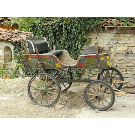 Canvas Print Antique Nostalgia Coach Wagon Horse Drawn Carriage Stretched Canvas 10 x 14