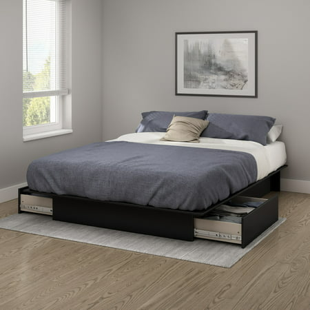 - South Shore SoHo Storage Platform Bed with 2 Drawers, Multiple Sizes and Finishes