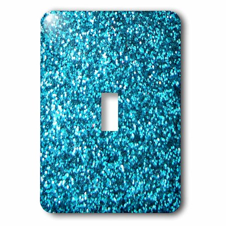 - 3dRose Blue Faux Glitter - photo of glittery texture - looks like sparkly bling sparkles but is matte, 2 Plug Outlet Cover