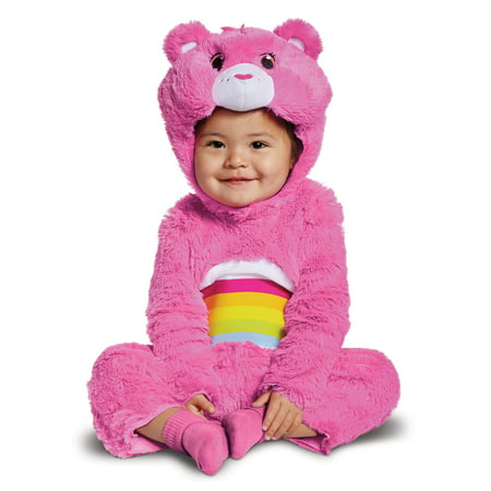 Cheer Bear Deluxe Plush Girls Pink Care Bears Infant Costume](Mens Care Bear Costume)