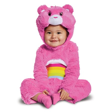 Cheer Bear Deluxe Plush Girls Pink Care Bears Infant Costume - Infant Bear Costumes