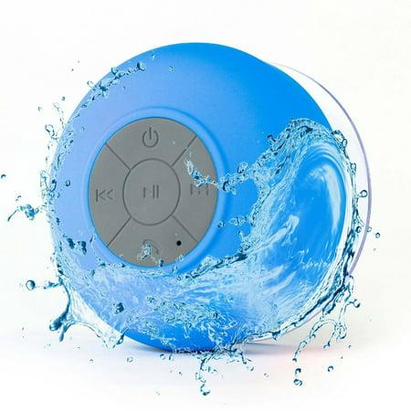 Wireless Bluetooth Mic Speakers Handsfree Waterproof Bathroom Shower Speaker with Suction Cup ()