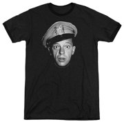 Andy Griffith Barney Head Mens Adult Heather Ringer Shirt