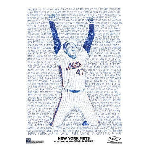 MLB - New York Mets Poster: '86 Championship Poster
