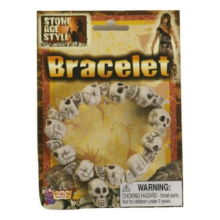Caveman Cavewoman Skull Skulls Bracelet Prehistoric Stone Age Costume Jewelry - Caveman Stone Age
