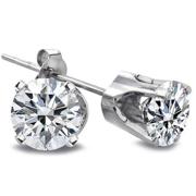 Diamond White Gold Stud Earrings