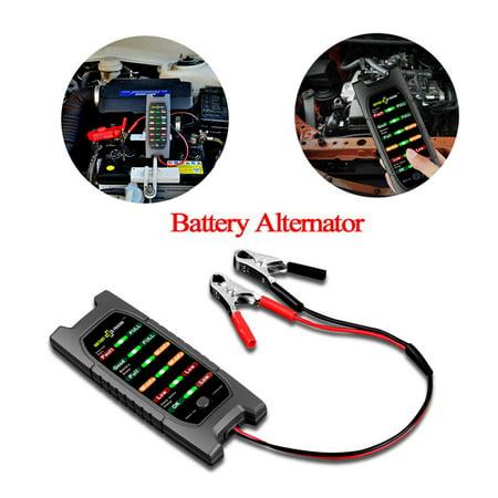 12V Car Battery Tester Alternator Check Analyzer Lead Diagnostic Tool With 6 LED (Spark Analyzer)