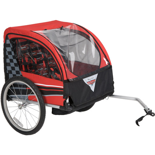 Huffy Disney Cars Boys' Bike Trailer, Red/Black
