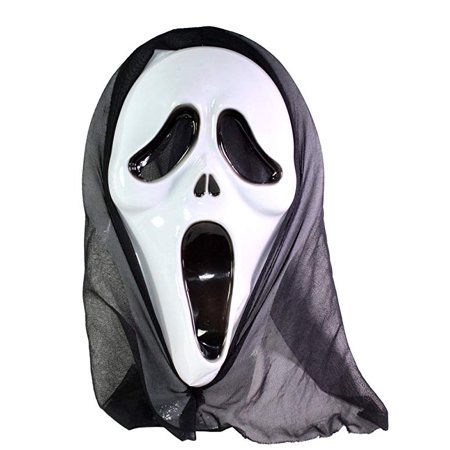 White Ghost Face Scream Horror Halloween Costume Cosplay Party Mask - Halloween H20 Face To Face