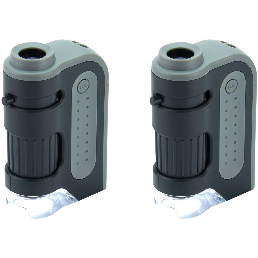 2pk Carson MM-300 Microbrite Plus 60x-120x LED Pocket Microscope