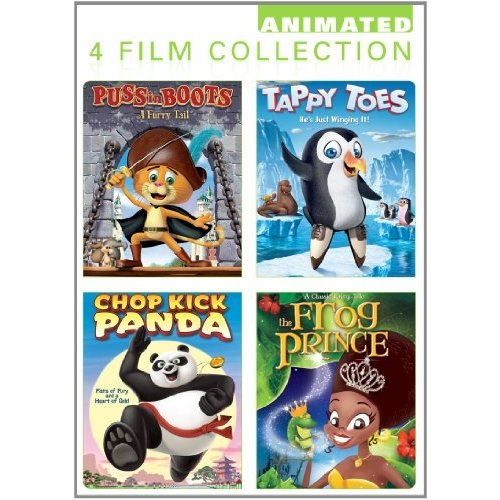 Animated 4 Film Collection: Puss In Boots: A Furry Tail / Tappy Toes / Chop Kick Panda / The Frog Prince