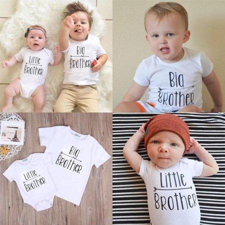 Big Bang Onesie (Little Brother Baby Boy Romper Bodysuit Big Brother T-shirt Tops Matching)