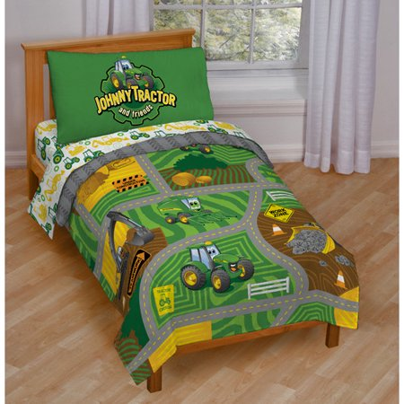 John Deere Johnny Tractor Toddler Bedding Set Walmart Com