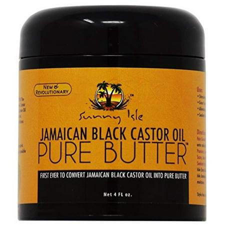 Sunny Isle Jamaican Black Castor Oil Pure Butter Original, 4 (Sunny Isle Jamaican Black Castor Oil Hair Growth)