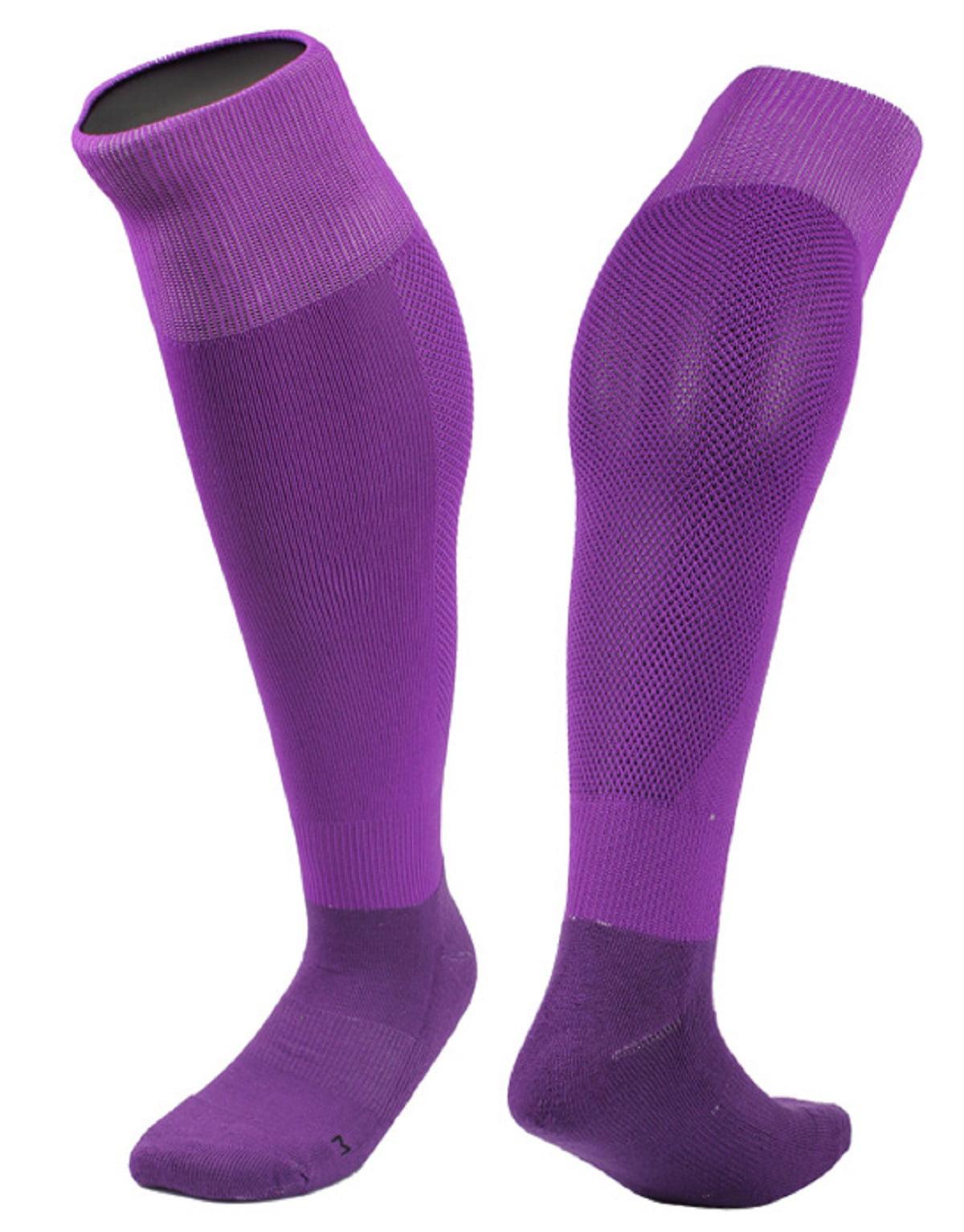 Lovely Annie Women's 2 Pairs Knee High Sports Socks for Baseball/Soccer/Lacrosse 005 M(Yellow)