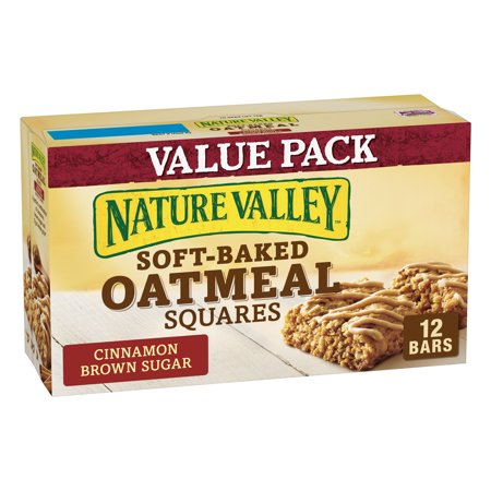 Nature Valley Oatmeal Squares Cinnamon Brown Sugar 12 (Best Oatmeal Chocolate Chip Bars)