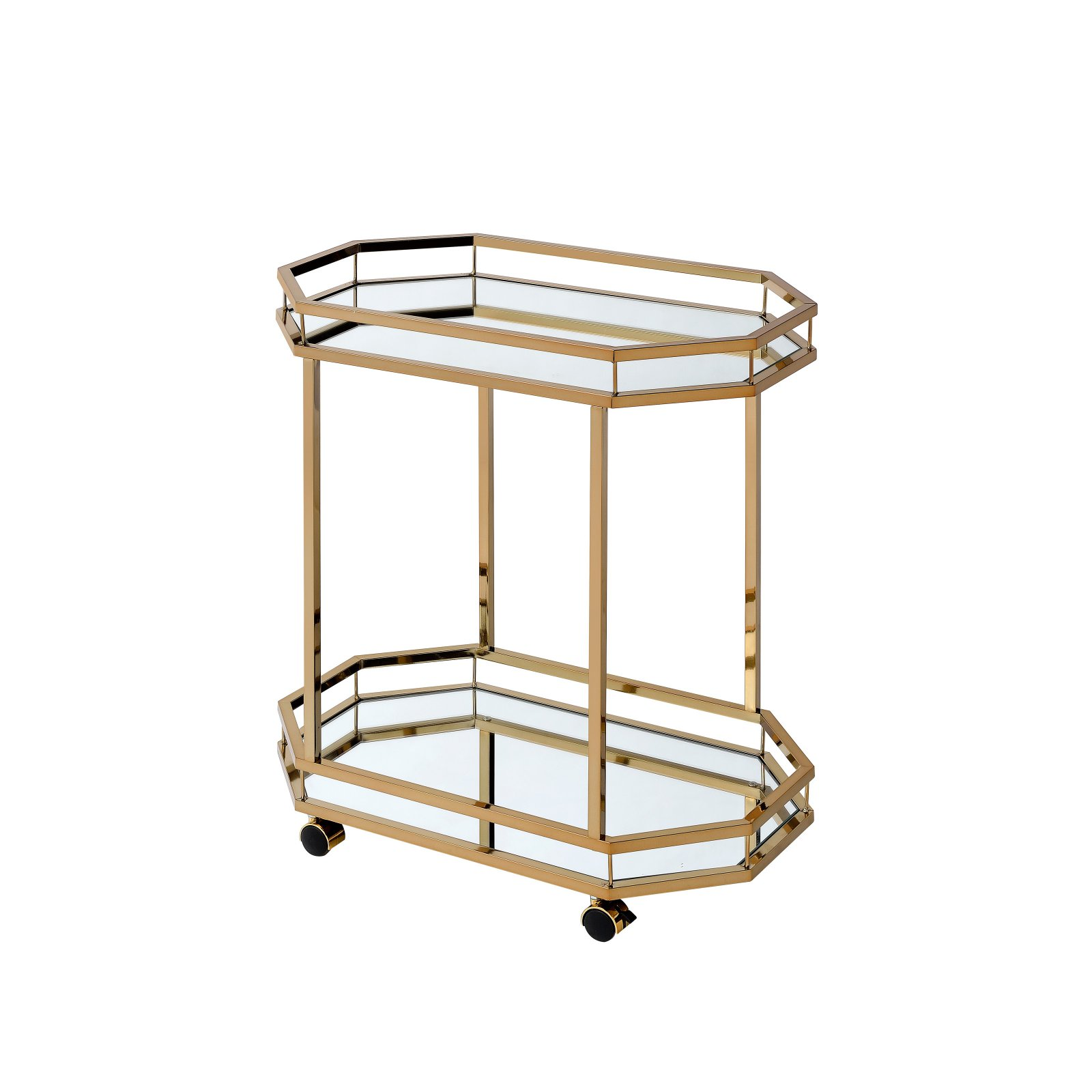 ACME Lacole Serving Cart, Mirror and Champagne
