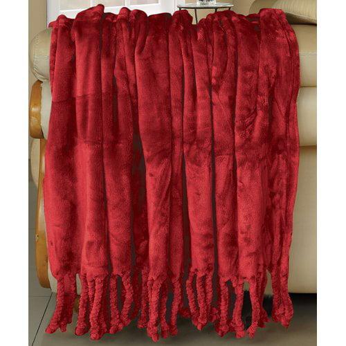 BOON Throw & Blanket Flannel Fleece Braided Throw