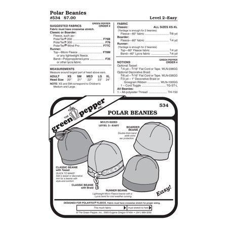 Polar Beanies Sewing Pattern
