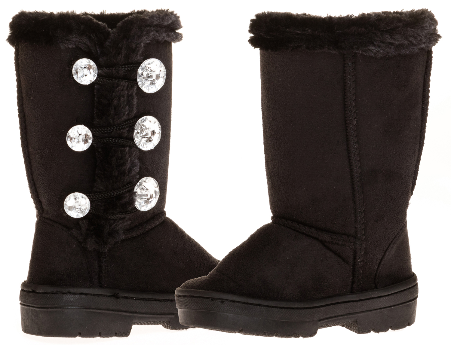 "Sara Z Toddler Girls 5"" Lug Sole Winter Boot With Rhinestones by"