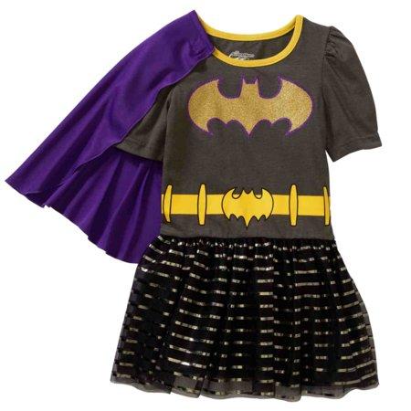 DC Comics Toddler Girls Caped Batgirl Superhero Tulle Dress 2T for $<!---->