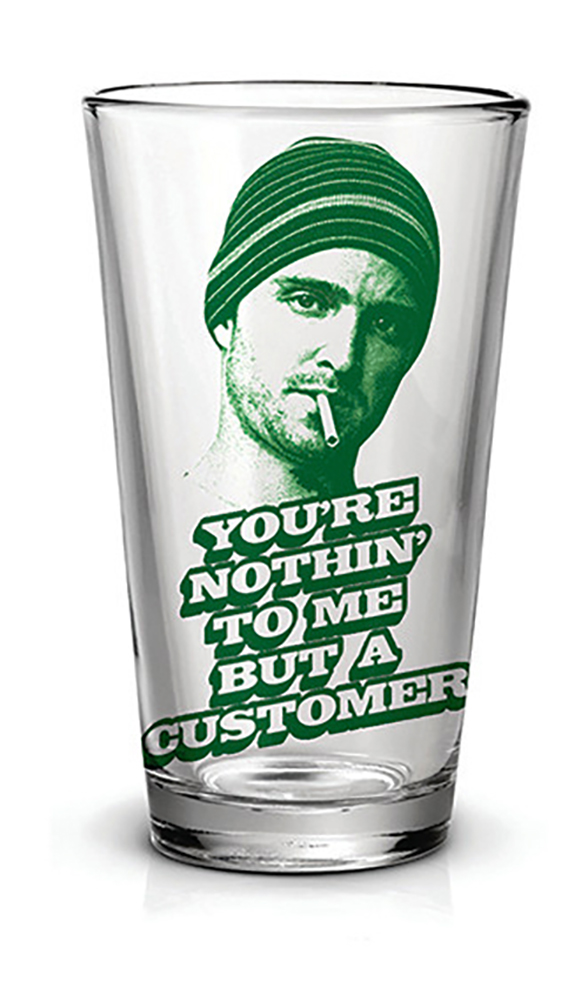 Breaking Bad Jesse Just A Customer 16oz Pint Glass by Just Funky