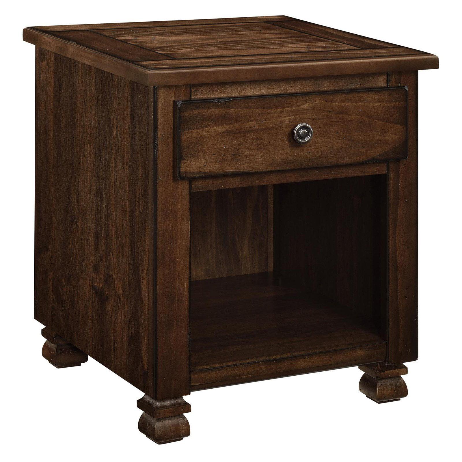 Ameriwood Home San Antonio Wood Veneer End Table, Multiple Colors by Ameriwood