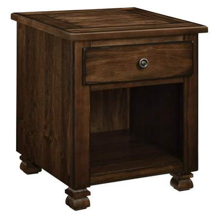 Ameriwood Home San Antonio Wood Veneer End Table, Multiple Colors