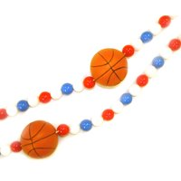 Kurt S. Adler 6' Red And Blue Beaded Basketball Christmas Garland