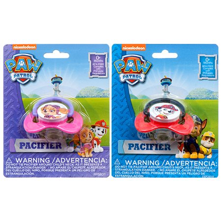 New 364354  Pacifier W / Paw Patrol Print Asst Color  Design (12-Pack) Baby Items Cheap Wholesale Discount Bulk Baby Baby Items Firesale