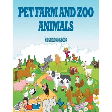 Pet Farm Zoo Animals Kids Coloring Book