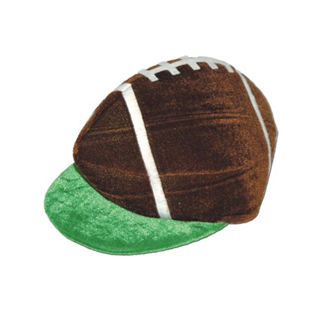 Club Pack of 12 Brown, Green and White Plush Game Day Football Party Hats
