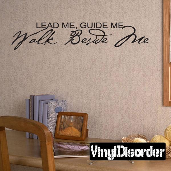 lead me, guide me walk beside me Child Teen Vinyl Wall ...
