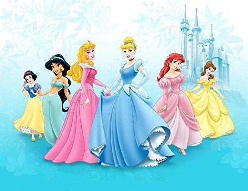 Disney PRINCESS 3 sheets Scrapbook Stickers Belle Ariel Aurora Snow White