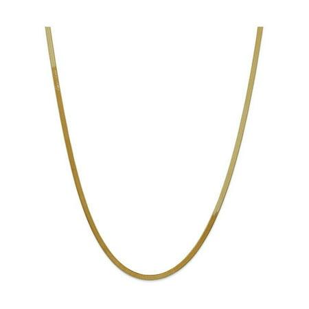 Finejewelers 7 Inch 14k Yellow Gold 3.0mm Silky Herringbone Chain Bracelet
