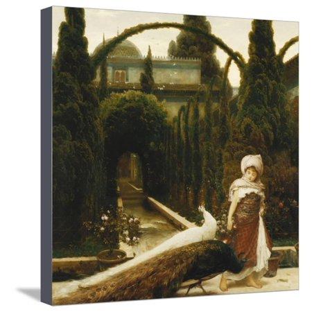 Metal Granada Wall - Moorish Garden; a Dream of Granada Stretched Canvas Print Wall Art By Frederick Leighton