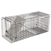 ZENY 32'' Humane Live Animal Trap Cage, 1-Door Rodent Steel Catch and Release for Raccoons, Cats, Groundhogs, Opossums, Stray Cat, Squirrel, Mole, Gopher, Skunk