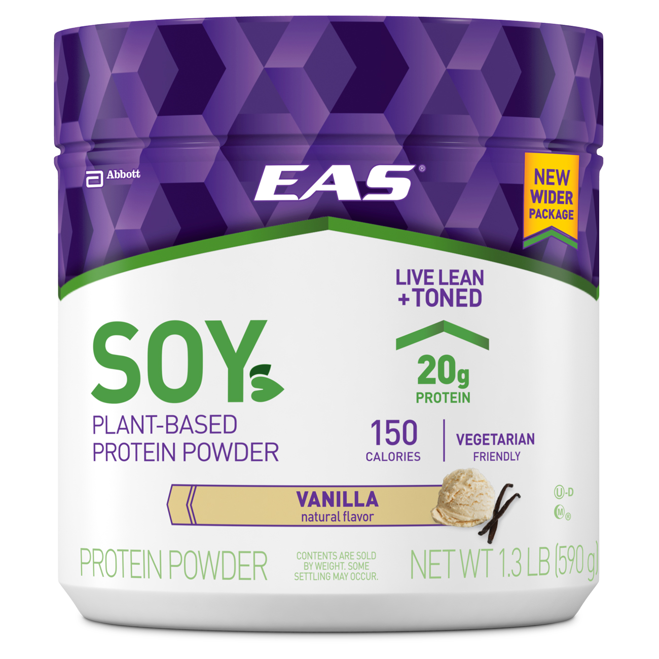 EAS Soy Protein Powder, Vanilla, 1.3 lb