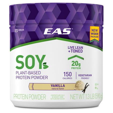 EAS Soy Protein Powder, Vanilla, 20g Protein, 1.3 Lb