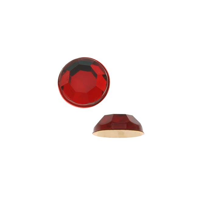 Vintage Lucite Plastic Flatbacks Faceted Round Ruby Red SS22 5mm (72)