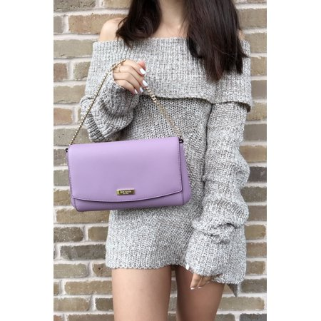 9921e9e52 kate spade - Kate Spade Laurel Way Greer Saffiano Crossbody Clutch Lilac  Petal Purple Handbag - Walmart.com