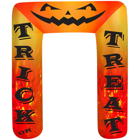 8' Airblown Archway Kaleidoscope Trick or Treat Halloween - Cartoon Halloween Trick Or Treating