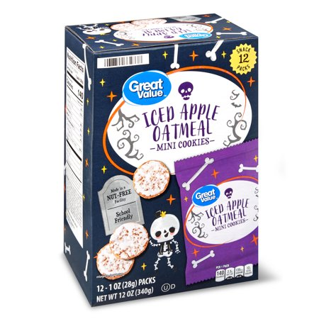 Great Value Gv Harvest Iced Apple Oatmeal Multipack