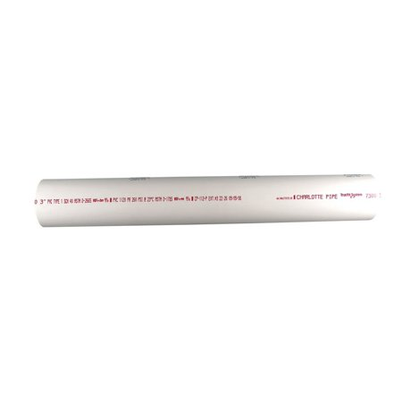 Charlotte Pipe  Solid Pipe  1 in. Dia. x 2 ft. L Plain End  Schedule 40  450 psi 160 Psi Poly Pipe