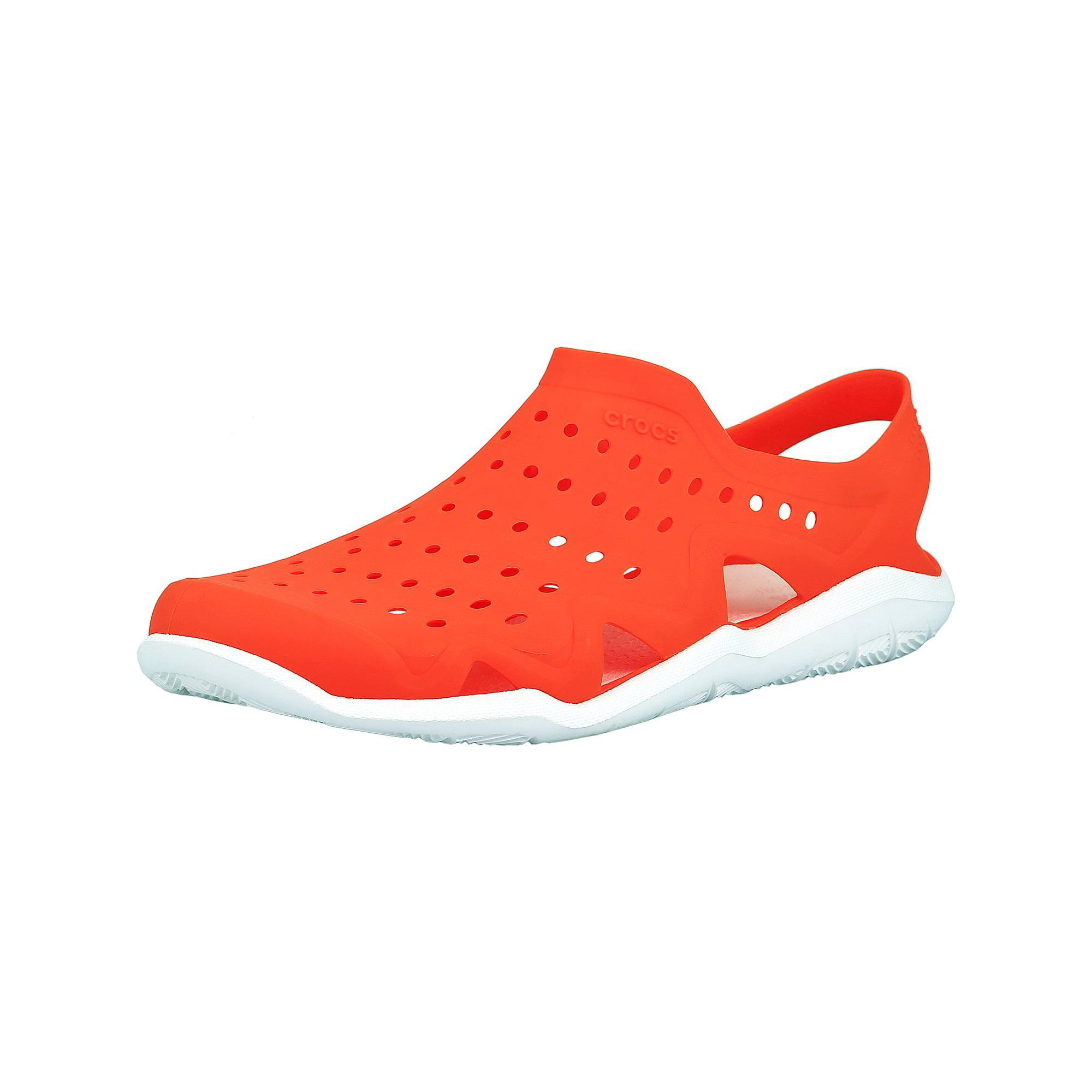 1692f4057d6a Crocs Men s Swiftwater Wave Graphite   Volt Green Ankle-High Rubber Sandal  - 6M
