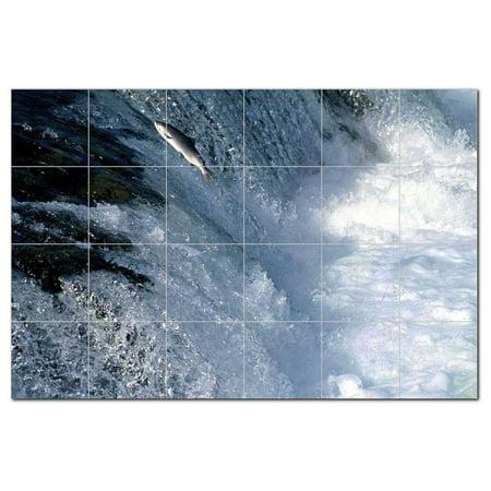 River Picture Ceramic Tile Mural Kitchen Backsplash Bathroom Shower 405748 L64
